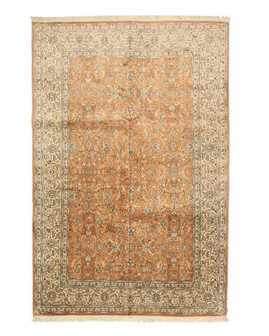 Eastern Rugs Silk X35963 Peach Area Rug