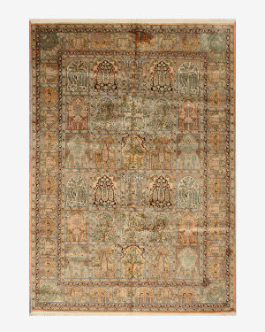 Eastern Rugs Silk X35978 Peach Area Rug