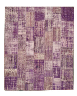 Eastern Rugs Turkish Patchwork X35995 Purple Area Rug