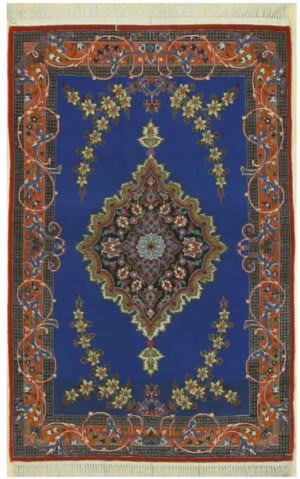 Eastern Rugs Isfahan X36020 Blue Area Rug