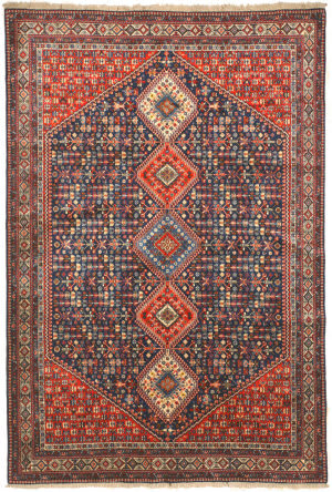 Eastern Rugs Yalameh X36054 Blue Area Rug