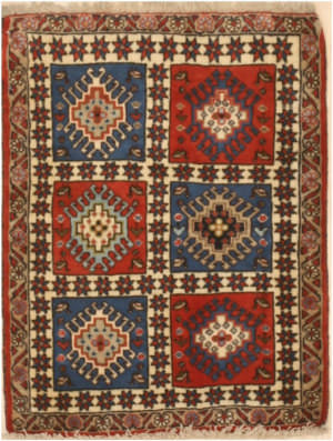 Eastern Rugs Yalameh X36058 Blue Area Rug