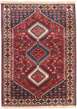 Eastern Rugs Yalameh X36063 Red Area Rug