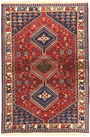 Eastern Rugs Yalameh X36072 Red Area Rug