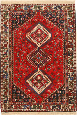 Eastern Rugs Yalameh X36079 Orange Area Rug