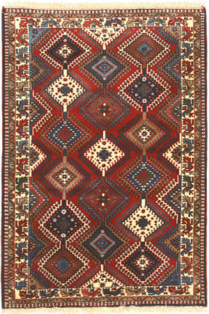 Eastern Rugs Yalameh X36081 Red Area Rug