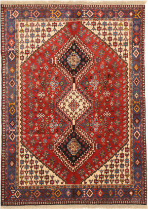 Eastern Rugs Yalameh X36083 Red Area Rug
