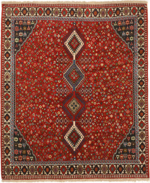 Eastern Rugs Yalameh X36092 Red Area Rug
