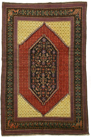 Eastern Rugs Kazak Yz706 Rust Area Rug