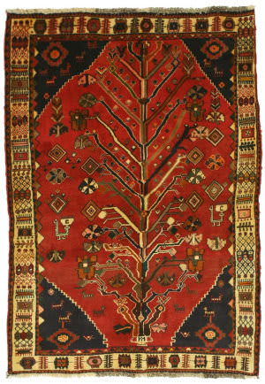 Eastern Rugs Shiraz Yz930 Rust Area Rug