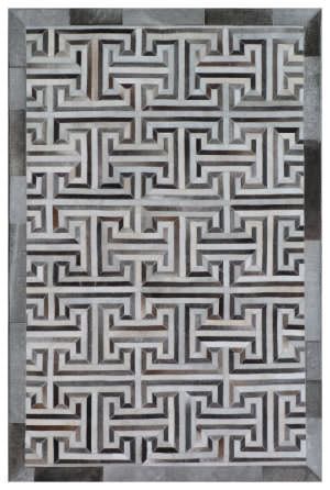 Exquisite Rugs Natural Hair on Hide Gray - Ivory Area Rug