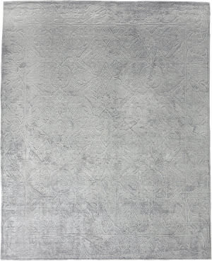 Exquisite Rugs Iris Hand Knotted Light Silver Area Rug