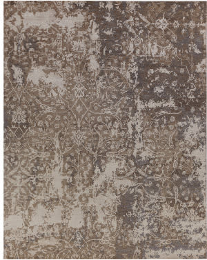 Exquisite Rugs Hundley Hand Knotted Silver - Gray Area Rug