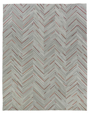 Exquisite Rugs Natural Hair on Hide Gray - Red Area Rug
