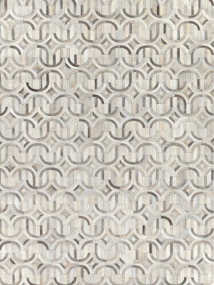 Exquisite Rugs Natural Hair on Hide Silver - Ivory Area Rug