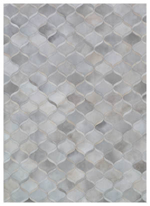 Exquisite Rugs Natural Hair on Hide 2151 Silver - Ivory Area Rug