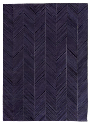 Exquisite Rugs Natural Hair on Hide Blue - Black Area Rug