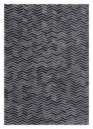 Exquisite Rugs Natural Hair on Hide Black - Gray Area Rug