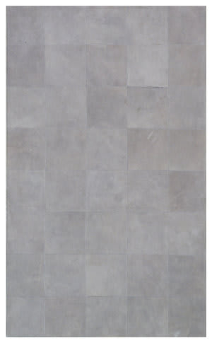 Exquisite Rugs Leather Suede Hair on Hide Gray Area Rug