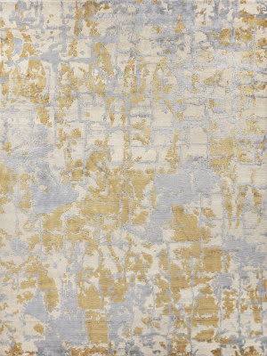 Exquisite Rugs Cecily Hand Knotted 2200 Gold Area Rug