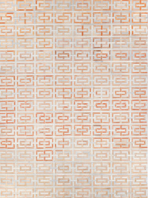 Exquisite Rugs Natural Hair on Hide Terracotta - Ivory Area Rug