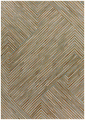 Exquisite Rugs Natural Hair on Hide 2213 Terracotta - Silver Area Rug