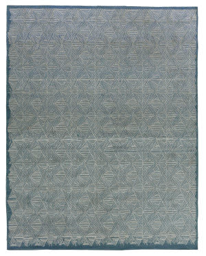 Exquisite Rugs Pavilion Flatwoven Blue - Silver Area Rug