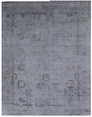 Exquisite Rugs Lexington Hand Knotted Blue - Black Area Rug