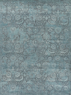Exquisite Rugs Meena Hand Knotted Gray - Blue Area Rug