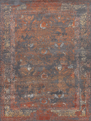 Exquisite Rugs Maison Hand Knotted Gray - Red Area Rug
