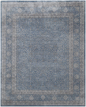 Exquisite Rugs Richmond Hand Knotted Blue Area Rug