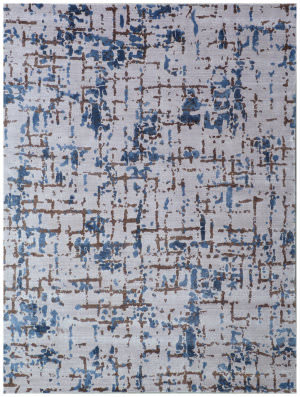 Exquisite Rugs Antolini Hand Woven Ivory Blue Area Rug