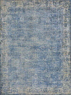 Exquisite Rugs Cassina Hand Woven Denim - Beige Area Rug