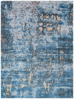 Exquisite Rugs Reflections Hand Woven Blue Area Rug