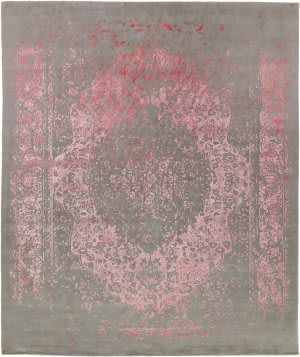 Exquisite Rugs Milan Hand Knotted Pink Area Rug