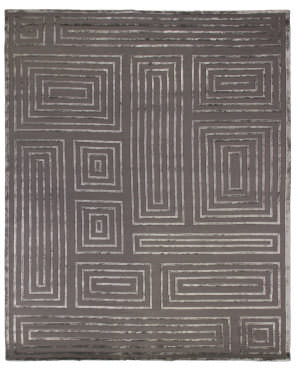 Exquisite Rugs Moreno Hand Knotted Charcoal Area Rug