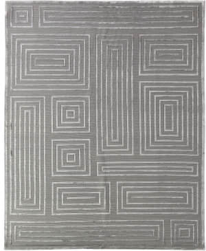 Exquisite Rugs Moreno Hand Knotted Silver Area Rug