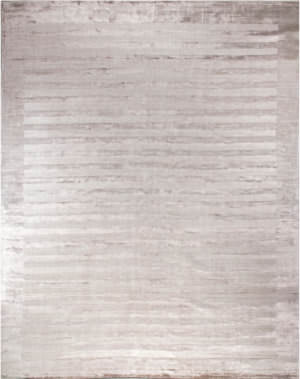 Exquisite Rugs Panel Stripe Hand Woven Silver Area Rug