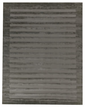 Exquisite Rugs Panel Stripe Hand Woven Light Blue Area Rug