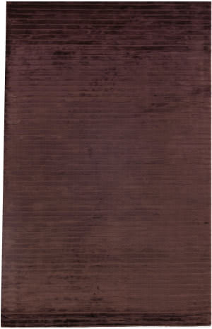 Exquisite Rugs Wave Hand Woven Chocolate Area Rug