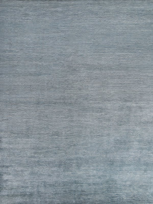 Exquisite Rugs Crush Hand Knotted Aqua - Dark Aqua Area Rug