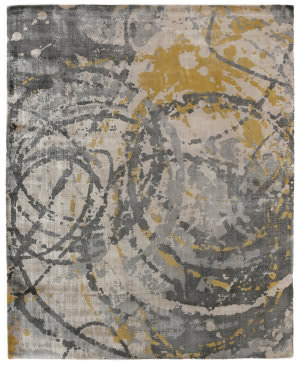 Exquisite Rugs Koda Hand Woven Gold Area Rug