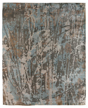 Exquisite Rugs Koda Hand Woven Blue - Brown Area Rug