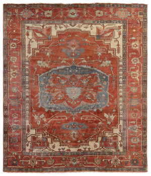 Exquisite Rugs Serapi Hand Knotted Red - Rust Area Rug
