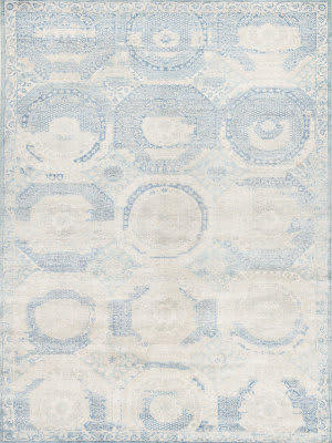 Exquisite Rugs Fine Mamluk Hand Knotted Blue - Beige Area Rug