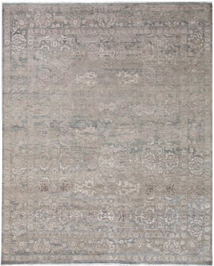 Exquisite Rugs Beverly Hand Knotted Light Blue - Brown Area Rug