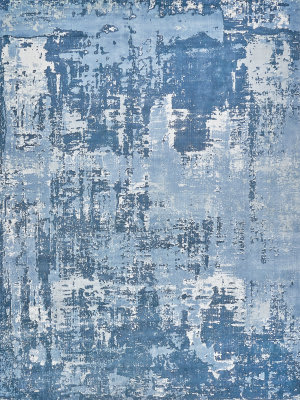 Exquisite Rugs Koda Hand Woven Blue - Ivory Area Rug