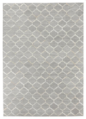 Exquisite Rugs Berlin Hair on Hide Silver - Ivory Area Rug