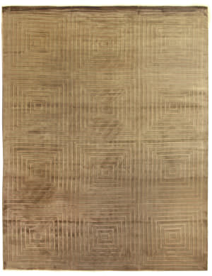 Exquisite Rugs Embossed Hand Woven Light Beige Area Rug