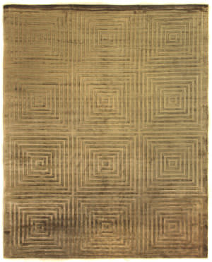 Exquisite Rugs Embossed Hand Woven Khaki Area Rug